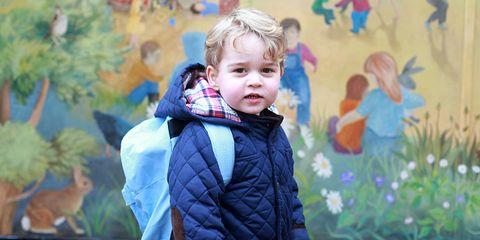 Prince George at school