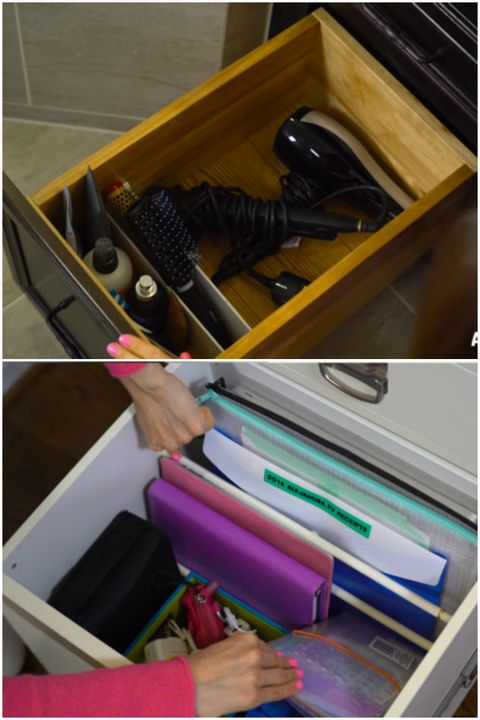 "<p>From the kitchen to the office to the bathroom, strategic separation ekes the most space out of tall cabinets. You can stack your stuff higher and find what you need more easily. If you don't want to cut custom dividers for every nook, use tension rods instead. </p><p><span class=""redactor-invisible-space"" data-verified=""redactor"" data-redactor-tag=""span"" data-redactor-class=""redactor-invisible-space""></span></p>"