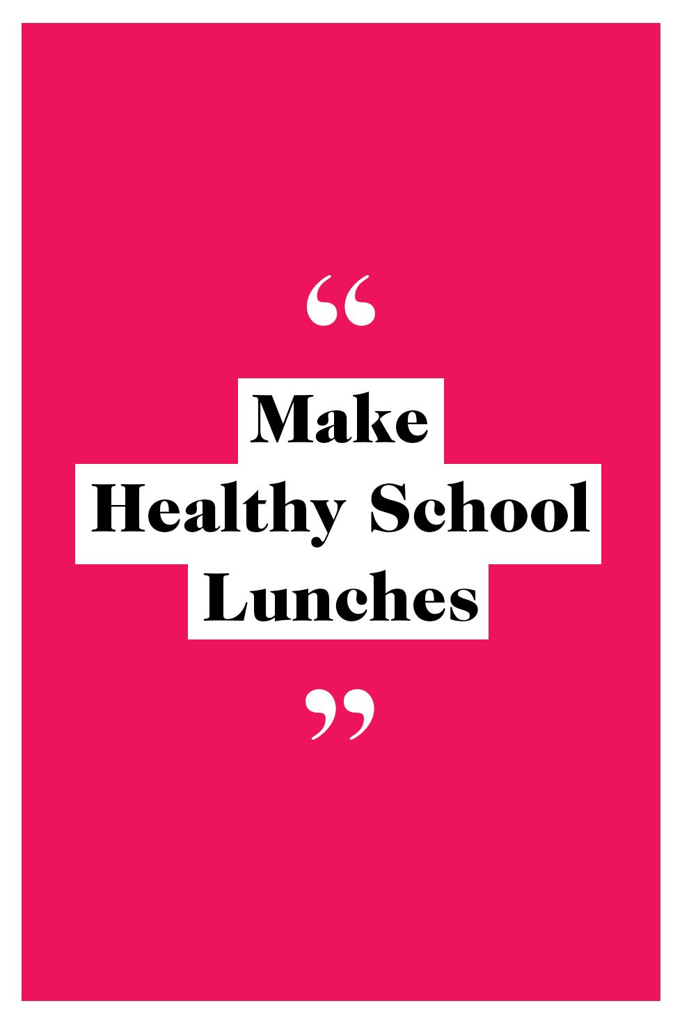 healthy lunches mom resolutions