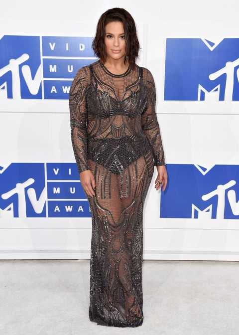 <p>Naked dress exhibit A: a totally see-through gown that shows off the wearer's underpinnings (as seen on Ashley Graham at the VMAs).</p>