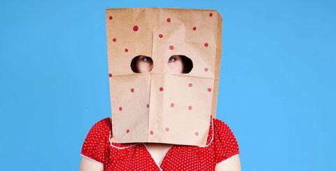Red, Pattern, Paper product, Polka dot, Cardboard, Paper, Design, Carton, Peach, Box,