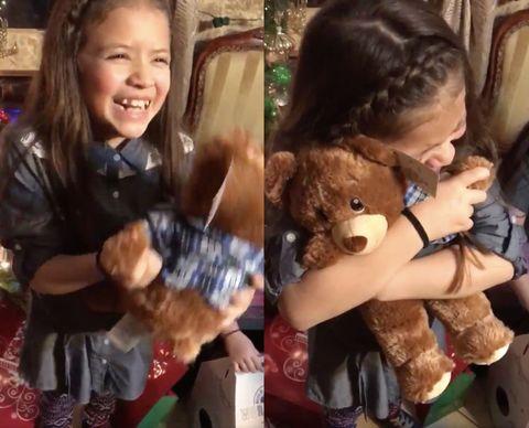 Human, Stuffed toy, Toy, Plush, Teddy bear, Baby toys, Brown hair, Bear, Holiday,