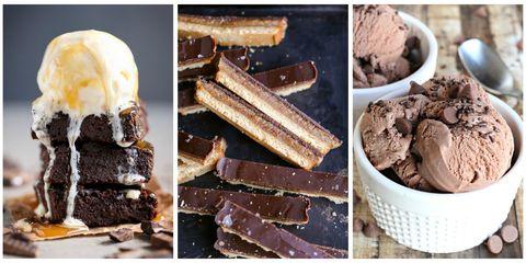Food, Frozen dessert, Gelato, Ice cream, Cuisine, Dish, Dessert, Chocolate, Ingredient, Chocolate brownie,