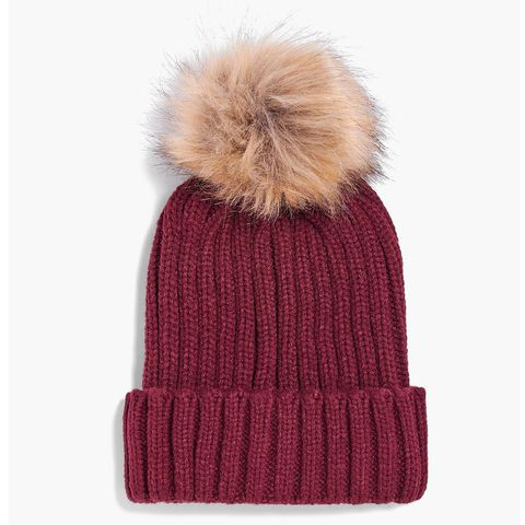 "<p>The beanie hat is a cold weather standard. Class it up with Boohoo's grown-up,&nbsp;removable-pom take on the style.&nbsp;($14)</p><p><a href=""http://us.boohoo.com/matilda-detachable-faux-fur-pom-beanie-hat/DZZ64018.html?color=135"" target=""_blank"" class=""slide-buy--button"" data-tracking-id=""recirc-text-link"">BUY NOW</a></p>"