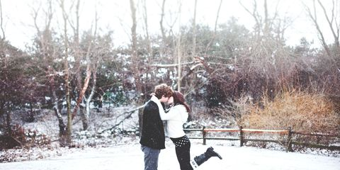 Winter, People in nature, Interaction, Romance, Love, Snow, Honeymoon, Twig, Gesture, Freezing,