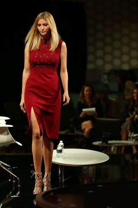 Dress, High heels, Fashion model, One-piece garment, Fashion, Waist, Cocktail dress, Day dress, Lipstick, Jewellery,