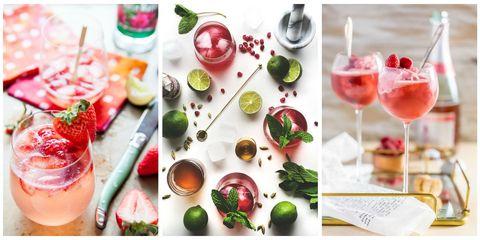 Food, Cocktail garnish, Drink, Brunch, Ingredient, Non-alcoholic beverage, Pomegranate, Fruit, Garnish, Wine cocktail,