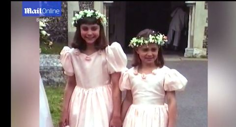 "<p>In <a href=""http://www.dailymail.co.uk/femail/article-4145244/Footage-Kate-Pippa-Middleton-bridesmaids-1991.html"" target=""_blank"" data-tracking-id=""recirc-text-link"">video obtained by the <em data-redactor-tag=""em"" data-verified=""redactor"">Daily Mail</em></a>, the Duchess of Cambridge, then 9, and her sister, then 7, can be seen acting as (somewhat fidgety) bridesmaids at their uncle Gary Goldsmith and Miranda Foote's 1991 wedding<span class=""redactor-invisible-space"" data-verified=""redactor"" data-redactor-tag=""span"" data-redactor-class=""redactor-invisible-space"">.&nbsp;</span>Pippa apparently knew what was up with flower crowns, even then.&nbsp;</p>"