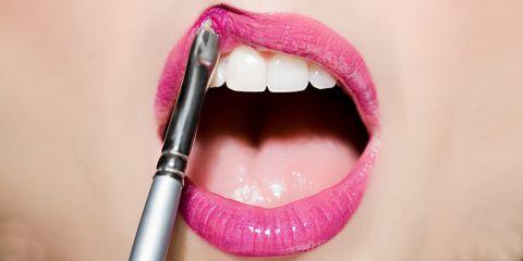 Lip, Skin, Magenta, Tooth, Purple, Pink, Violet, Tongue, Eyelash, Jaw,