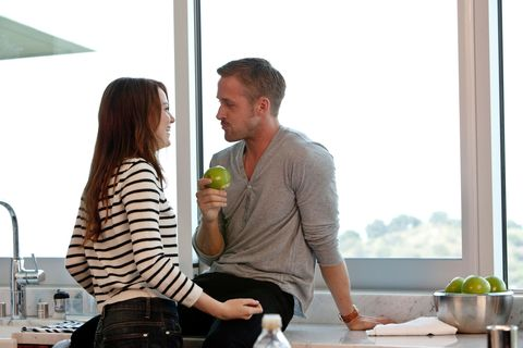 <p>Two gorgeous people who have *that* kind of spark? Not surprising they've been in two movies already (<em>Crazy, Stupid, Love</em> in 2011 and <em>Gangster Squad </em>in 2013) and are currently filming <em>La La Land,</em> a movie about a jazz pianist who falls in love with an aspiring actress. (Naturally.)</p>