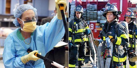Emergency service, Helmet, Personal protective equipment, Service, Workwear, Safety glove, Job, Crew, Glove, Emergency,