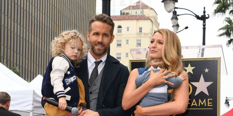 Ryan Reynolds and family
