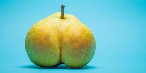 pear that looks like a butt