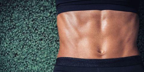 Skin, Textile, Waist, Stomach, Abdomen, Denim, Navel, Muscle, Tan, Trunk,