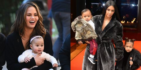 Luna Legend and North and Saint West