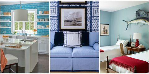 blue and white home decor lead