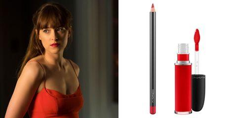 Shoulder, Red, Lipstick, Beauty, Carmine, Eyelash, Maroon, Model, Peach, Chest,