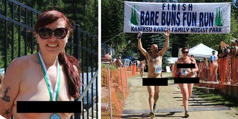 naked running