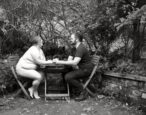 "<p>Body positivity activist and photographer Substantia Jones gets real AF about her newest photo series that celebrates curvier couples, just in time for Valentine's Day. </p><p><strong data-redactor-tag=""strong"">Why is it so important to you to use the word ""fat""?</strong></p><p><strong data-redactor-tag=""strong"">Substantia Jones:</strong> I use it to describe myself, I encourage others to as well. We're ""queering"" the word by using it in a factual, accurate, casual way. Other words that are commonly used that people think are harmless are not so harmless. The word ""overweight"" is a word of judgment. It suggests there is a line beyond which we musn't exist. I'm proudly fat. I'm cool with being fat and being called fat.</p>"