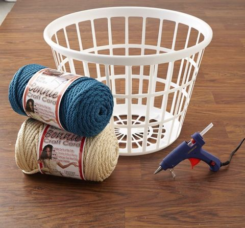How To Turn An Ugly Laundry Basket Into Chic Storage Diy Home Projects