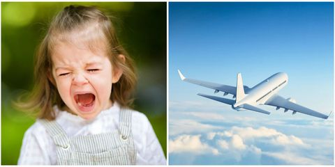 Air travel, Airplane, Photograph, Facial expression, Aerospace engineering, Child, Sky, Smile, Aviation, Nose,