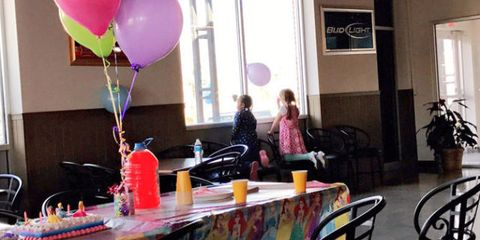 little girl one friend birthday party