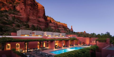 "<p>This gem of a <a href=""http://www.miiamo.com/"" target=""_blank"" data-tracking-id=""recirc-text-link"">resort</a>, tucked away in the red rock mesas of Sedona, offers&nbsp;3- to 7-day, all-inclusive retreats<span class=""redactor-invisible-space"" data-verified=""redactor"" data-redactor-tag=""span"" data-redactor-class=""redactor-invisible-space""> — focusing on things like self-love, yoga, and astrology — as well as more personal packages geared toward de-stressing, spiritual exploration, and finding balance. Services include Native American-inspired treatments with a holistic approach (the&nbsp;name mean ""one's path"" in the local Yuman language)<span class=""redactor-invisible-space"" data-verified=""redactor"" data-redactor-tag=""span"" data-redactor-class=""redactor-invisible-space""></span>. And there's nothing like spending some time under the desert sky to de-stress and re-prioritize things.&nbsp;<strong data-redactor-tag=""strong"" data-verified=""redactor""></strong></span></p>"