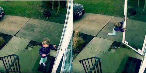 Girl Blown Away By Wind Lead
