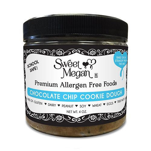 Sweet Megan Edible Bake-able Allergen Free Chocolate Chip Cookie Dough