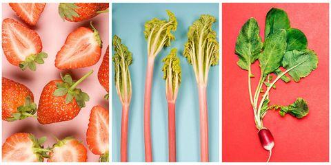 Carrot, Vegetable, Food, Natural foods, Superfood, Plant, Strawberry, Leaf vegetable, Strawberries, Produce,