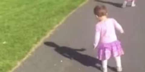 toddler sees shadow and freaks out