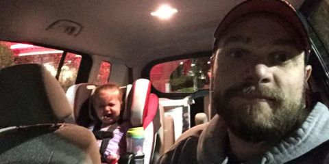 dad post about toddler tantrums in restaurants