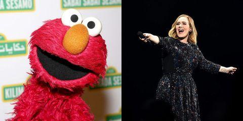 Adele and Elmo