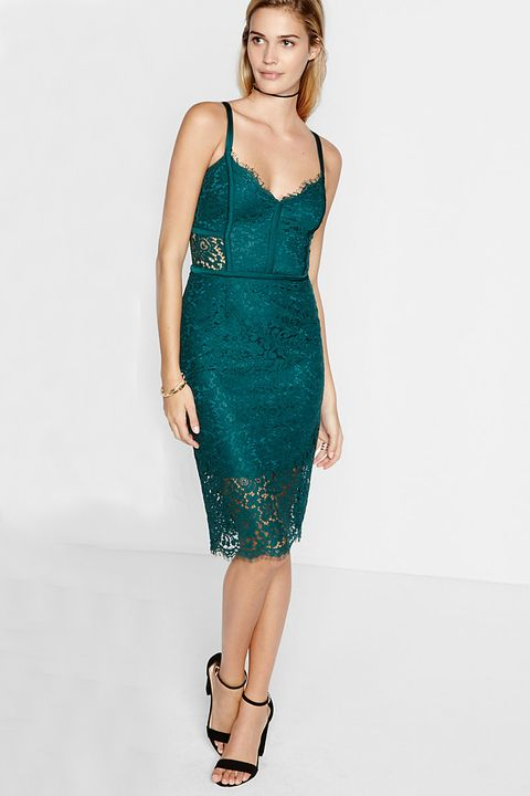 Wedding Guest Dresses Piped Lace Sheath Dress