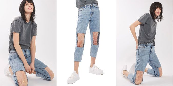 The Problem With Nordstrom's Clear Knee Mom Jeans Why Mom
