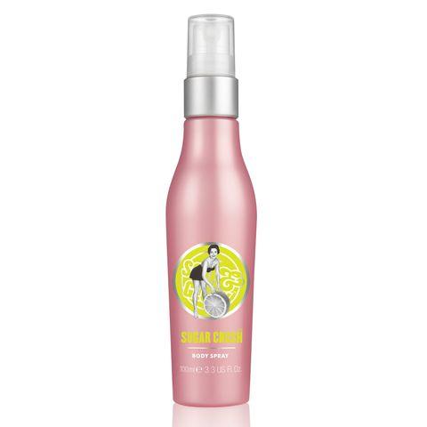 Grapefruit, Spray, Cosmetics, Bottle, Liquid, Plastic bottle, Fruit,