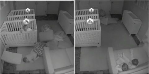 twins all night party crib escape viral video