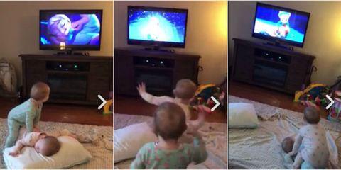 Babies reenacting Frozen