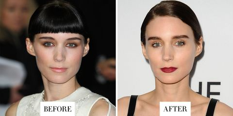 <p>Mara's nearly-black and lightly arched&nbsp;brows are now much fuller and straighter.&nbsp;</p>