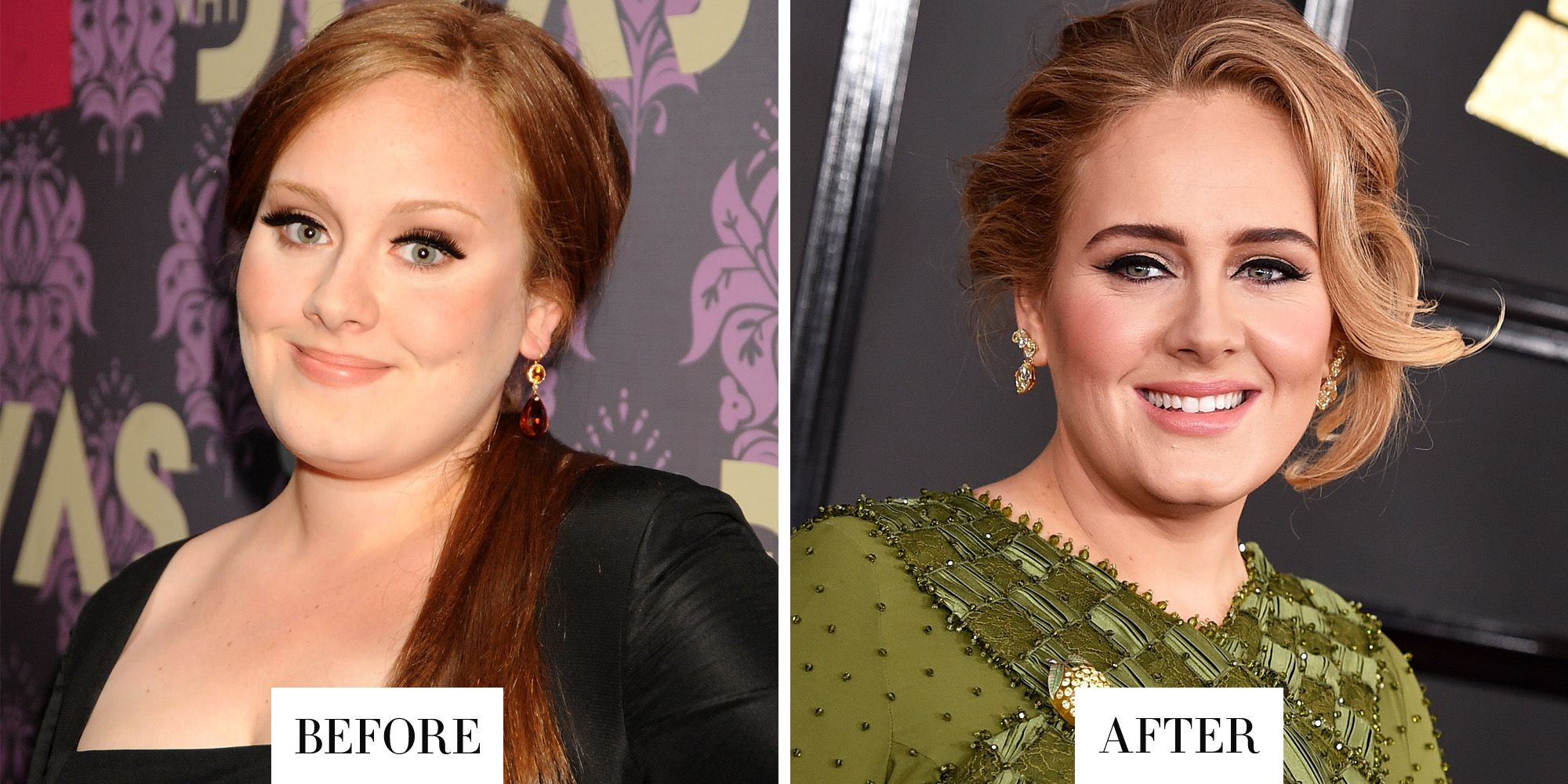 <p>Adele's brows are now much darker and more defined. </p>