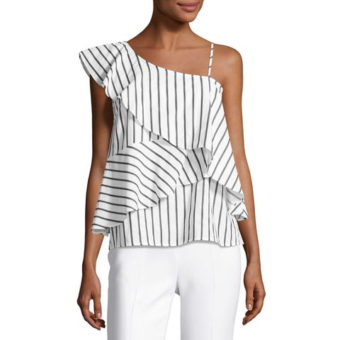 "<p>(Marled by Reunited, $45; <a href=""http://www.lastcall.com/Marled-by-Reunited-Clothing-One-Shoulder-Striped-Ruffled-Blouse-Gifts-Home-/prod42760007___/p.prod?icid=&amp;searchType=SEARCH&amp;rte=%252Fsearch.jsp%253FN%253D0%2525204294947260%2525204294954151%2525204294954178%2525204294933809%2525204294925470%2526fromIndex%253D1%2526rd%253D1%2526fixedDimId%253D4294947260&amp;eItemId=prod42760007&amp;cmCat=search"" target=""_blank"" data-tracking-id=""recirc-text-link"">lastcall.com</a>)</p>"