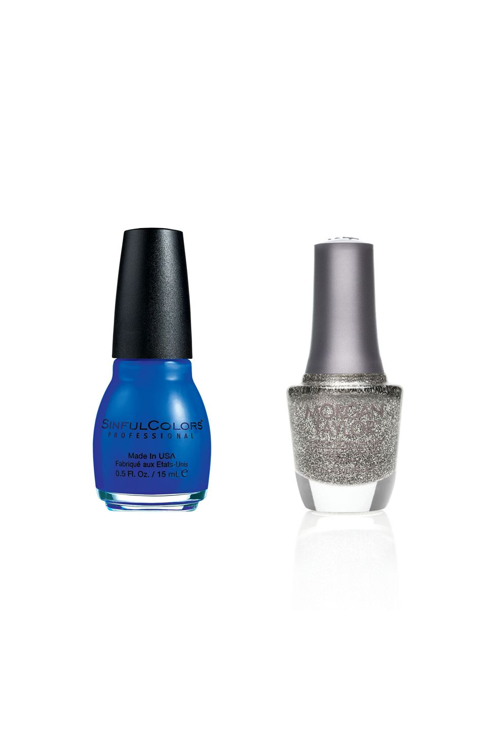 "<p>Sinful Colors Professional Nail Color in Endless Blue ($1.99; <a href=""http://www.target.com/p/sinful-colors-professional-nail-color/-/A-14754639"" target=""_blank"" data-tracking-id=""recirc-text-link"">target.com</a>) + Morgan Taylor Nail Lacquer in Time To Shine ($9; <a href=""https://www.morgantaylorlacquer.com/virtual-salon/glitters,50065_Time%20To%20Shine_glitter,2,0,2"" target=""_blank"" data-tracking-id=""recirc-text-link"">morgantaylorlacquer.com</a>)<span class=""redactor-invisible-space"" data-verified=""redactor"" data-redactor-tag=""span"" data-redactor-class=""redactor-invisible-space""></span></p>"