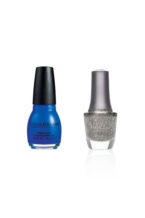 "<p>Sinful Colors Professional Nail Color in Endless Blue ($1.99;&nbsp;<a href=""http://www.target.com/p/sinful-colors-professional-nail-color/-/A-14754639"" target=""_blank"" data-tracking-id=""recirc-text-link"">target.com</a>) +&nbsp;Morgan Taylor Nail Lacquer in Time To Shine ($9;&nbsp;<a href=""https://www.morgantaylorlacquer.com/virtual-salon/glitters,50065_Time%20To%20Shine_glitter,2,0,2"" target=""_blank"" data-tracking-id=""recirc-text-link"">morgantaylorlacquer.com</a>)<span class=""redactor-invisible-space"" data-verified=""redactor"" data-redactor-tag=""span"" data-redactor-class=""redactor-invisible-space""></span></p>"