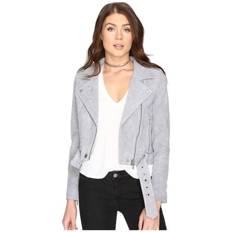 "<p>(Blank NYC, $198; <a href=""http://www.zappos.com/p/blank-nyc-grey-suede-moto-jacket-in-cloud-grey-cloud-grey/product/8858522/color/99475?PID=2178999&amp;AID=11586851&amp;utm_source=ShopStyle.com&amp;splash=none&amp;utm_medium=affiliate&amp;cjevent=21ba19961b1211e783eb842b2b279050_573503760951513856%3Aacgf_hdAH47p"" target=""_blank"" data-tracking-id=""recirc-text-link"">zappos.com</a>)</p>"