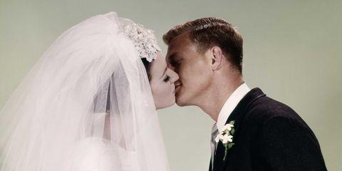 Clothing, Ear, Bridal veil, Veil, Bridal clothing, Forehead, Bridal accessory, Bride, Photograph, Wedding dress,