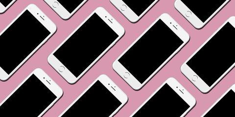 Electronic device, Technology, Gadget, Pink, Red, Magenta, Line, Purple, Communication Device, Pattern,