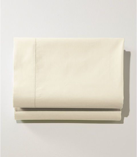 L.L.Bean 280-Thread-Count Pima Cotton Percale Fitted Sheet