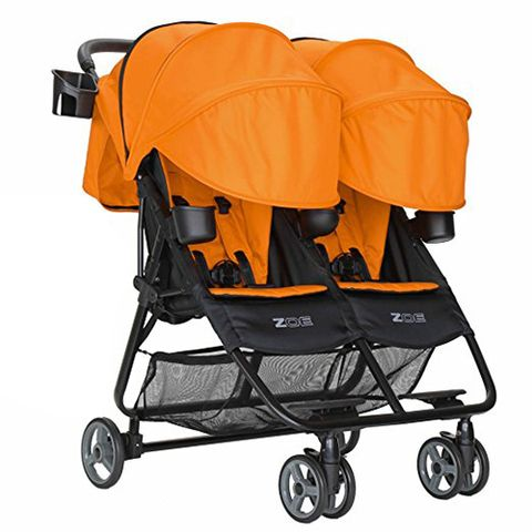 Zoe Orange Double Stroller