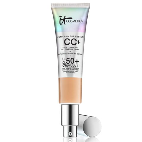 "<p>If your skin needs some TLC, this alphabet cream offers weightless, full coverage — and it's chock full of benefits, too, like antioxidants to help ward off free radicals and seriously impressive SPF 50 UVA/UVB protection thanks to titanium dioxide and zinc minerals. ($38) </p><p><strong data-redactor-tag=""strong"" data-verified=""redactor""><a href=""https://www.itcosmetics.com/your-skin-but-bettertm-cc-cream-with-spf-50 "" target=""_blank"" class=""slide-buy--button"" data-tracking-id=""recirc-text-link"">BUY NOW</a></strong><br></p><p><a href=""http://www.redbookmag.com/beauty/anti-aging/tips/g625/best-anti-aging-foundation/"" target=""_blank"" data-tracking-id=""recirc-text-link""><strong data-redactor-tag=""strong"" data-verified=""redactor"">RELATED: 11 Foundations That Will Erase 5 Years In Just 1 Step</strong></a><span class=""redactor-invisible-space""><strong data-redactor-tag=""strong"" data-verified=""redactor""><a href=""http://www.redbookmag.com/beauty/anti-aging/tips/g625/best-anti-aging-foundation/""></a></strong></span><br></p>"