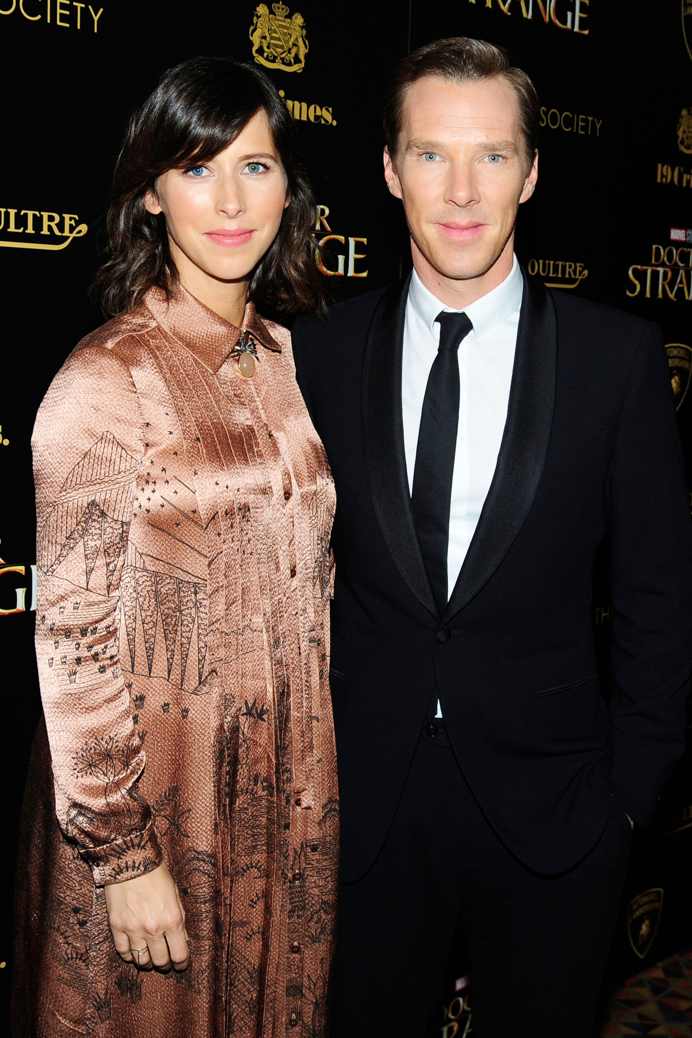 Sophie Hunter and Benedict Cumberbatch When the internet's boyfriend Benedict Cumberbatch and his wife look directly into the cameras, it's like the same pair of eyes is staring into your soul twice.